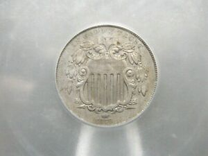 1866 Shield Nickel 5c ***RAYS*** ICG AU53 East Coast Coin & Collectables, Inc.