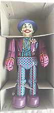 Colorful vintage the Joker (Batmans Nemesis) windup tin Billiken Robot MIB w/key