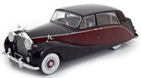 Scale model 1/18 Rolls Royce silver Wraith Empress by Hooper, black/dark red