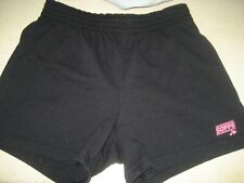 Girls M 8-10 Black SOFFE Knit SHORTS Elastic Waist ATHLETIC RUNNING JOG Sports