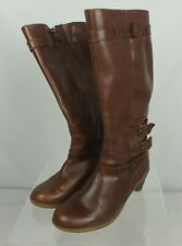 Womens Dr. Martens Knee High Brown Leather Boots Size 5