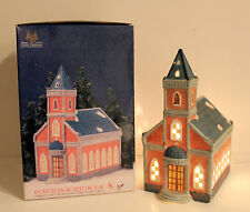 Holiday Expresss Lighted Porcelain Church Christmas Village Decoration