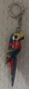 Keychain-A Beautiful Red, Blue, Yellow & White Macaw Keychain!