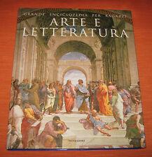 """Libri/Giornali"""" GRANDE ENCICLOPEDIA PER RAGAZZI ARTE E LETTERATURA 18 """"Mondadori"""