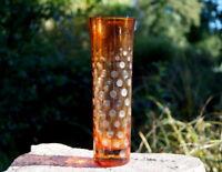 wunderschöne Vase Glas Überfang Handarbeit Designerstück besonderes Sammlerstück