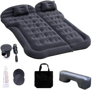 Car Inflatable Mattress with Pump, Portable SUV Air Bed for Camping, Home, Full