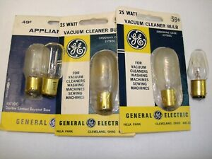 GE / Sylvania 25T8DC 15T7DC 10C7DC 25W 15W 10W Appliance Light Bulbs Lot of 5