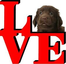 Flat Coated Retriever Dog Love Park Dog Fridge Refrigerator Car Magnet