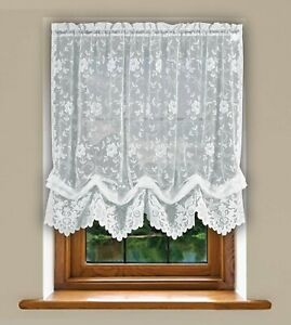 Grace Shabby Chic Floral Lace Tie Up Balloon Shade Window Curtain Various Color