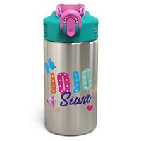 Zak Designs JoJo Siwa 15.5 oz Kids Stainless Steel Water Bottle with Spout Cover