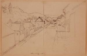 "Karl Vesque von Puettlingen (b.1805) ""Neuwaldegg in Vienna"", Two Drawings, 1833"