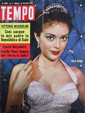 TEMPO n°4 1956 Milly Vitale - Curzio Malaparte - Mussolini e Salò  [C89]