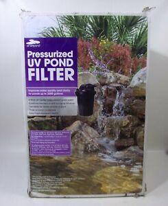 Smartpond Pressurized UV Pond Filter Up To 2000 Gallons model PBF2000UV