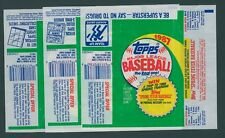 1987 TOPPS BASEBALL WAX PACK WRAPPERS / ALL 3 VARIATIONS - NO TEARS