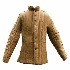 New ArmorThick Camel Long Medieval Padded Play Movie Armor Full Sleeve Gambeson