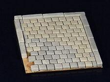 150 Keramik Pflastersteine Granit quadratisch, Kopfsteinpflaster, 1:35