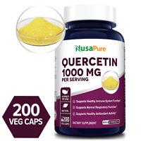 NusaPure Quercetin 1000mg - 200 Veg Caps ( Non-GMO & Gluten-free)