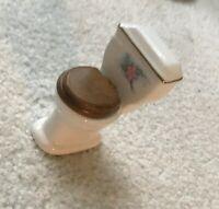 Vintage Toilet Victorian Dollhouse Miniature Doll House Mini Rare Loo Lid
