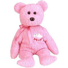 TY Beanie Baby - BABYGIRL the Bear (with Stork & It's a Girl on Chest) (8.5 inch