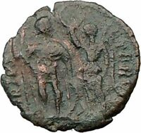 HONORIUS crowned by VICTORY 395AD  Ancient Genuine Roman Coin i22508