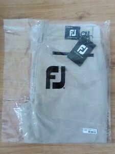New! FootJoy Mens Slim Fit Performance Golf Trouser KHAKI W32/L34 RRP $140