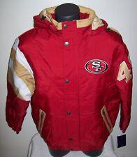 SAN FRANCISCO 49ERS  Starter KNOCKOUT Hooded Winter Jacket RED  MEDIUM
