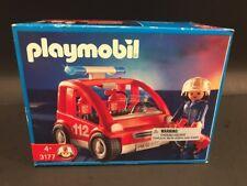 Vintage Playmobil Fire Chief's Car 3177 Retired NIB 2001