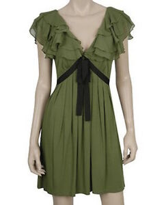 NWT TWELVE BY TWELVE FOREVER 21 CHIFFON RUFFLE PARTY DRESS M   SFS