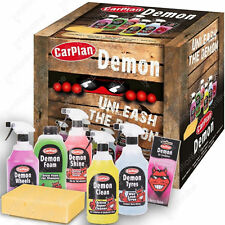 CarPlan Demon Car Exterior Cleaning Valet Gift Set Tyres Wheels Shampoo Shine