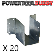 20 x 47mm Mini Timber Joist Hangers Ideal For Decking, Loft, Roofing.