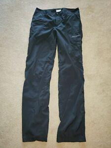 Columbia Omni-Shade PFG Hiking Athletic Fishing Pants Womens sz 4 Black