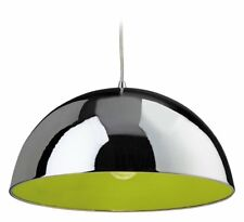 Firstlight chrome bistro pendant with green inner.