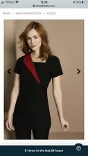 Simon Jersey Black Tunic With Red Detail Size 16