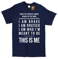 Greatest Showman Inspired This is Me Music Lyrics T-shirt - Musical Film NEW