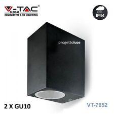 APPLIQUE V-TAC VT-7652  PER ESTERNO PORTA LAMPADA DA MURO SKU 7511 IP44 NERO