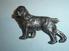 Vintage Sterling Silver Cocker Spaniel Dog Cast Pin Brooch