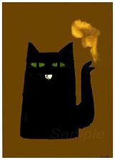 VINTAGE BLACK CAT KETTLE OLD ADVERTISING A3 POSTER PRINT