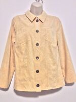 Christopher + Banks Honey Colored Long Sleeve Button Down Light Cord Jacket M