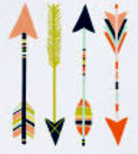 20 water slide nail art transfer decals coral mint blue arrows 5/8 inch