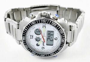 Men's New Pod Premium Analogue & Digital Chronograph Sports Watch 100m W/Proof