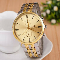 Herren Armbanduhr Silber Uhr Gold Mode Fashion Männer Quarz Luxus Business