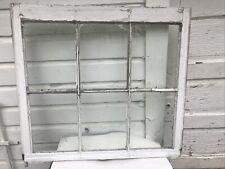 "Vintage Farmhouse Old Wood Window Sash 6 Pane Picture Frame 31 X 28"" X 2""Antique"
