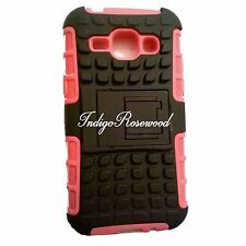High Quality Defender Kickstand Hybrid Case For Samsung Galaxy J1 Pink Black