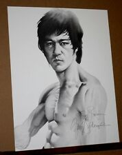 Bruce Lee by Gary Saderup Martial Arts Movie Star Hand Signed