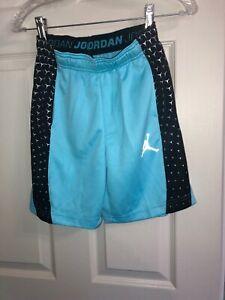 Nike Jordan Basketball Shorts Youth XXL 14-16 yrs Tide Pool Blue/ Reflective NWT
