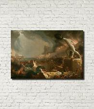 """Course of Empire Destruction, Thomas Cole Architecture Art Print 16x24"""""""