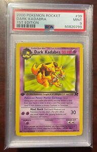 2000 Pokemon Team Rocket 1st Edition Dark Kadabra #39 PSA 9 MINT UNCOMMON