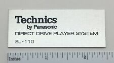 Technics Sl-110 turntable logo badge