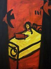 """Original peinture à l'huile expressionniste peinture à l'huile originale sur toile 24""""x32"""" Art"""