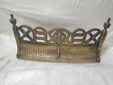 Solid VINTAGE  Brass Fire Front Grate set in solid brass 6.8 KILO IN WEIGHT